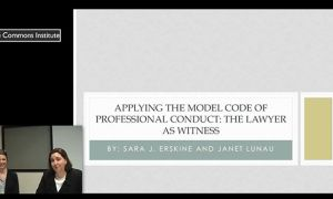 Contemporary Legal Challenges: Applying the Model Code of Professional Conduct 2015