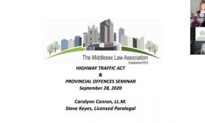 Highway Traffic Act and Provincial Offences Seminar