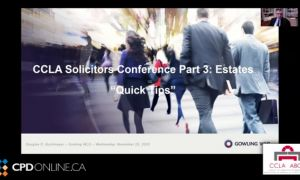 Solicitors Conference, Part 3: Estates. Quick Tips Replacing the Trustee when the trustee is still alive