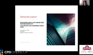 Building new law from the foundation up: An update on construction law; Broke but not broken: A panel on bankruptcy law