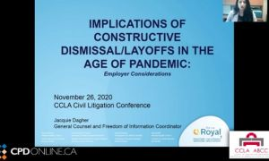Constructive dismissal/layoffs in the age of pandemic; Implications of constructive dismissal/layoffs in the age of pandemic