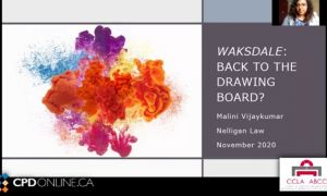 Waksdale: Back to the drawing board?; Implications of waksdale