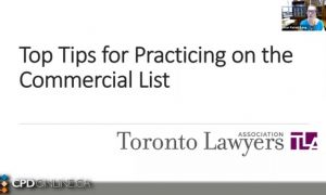 Top Practice Tips for the Commercial List