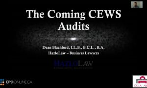 Corporate/Commercial Part 1. Being Prepared for Canada Emergency Wage Subsidy Audits by CRA; Virtual Minute Books – The Why and How; Leasing in the time of Covid: Landlord and Tenant Perspectives; Legal Issues in Bankruptcy and Insolvency in a COVID-19 Wo