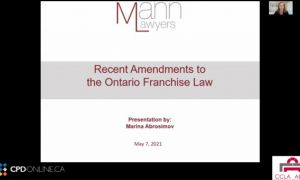 Corporate/Commercial Part 2: Amendments to the Ontario Franchise Law; Forfeited Corporate Property and the FCPA; Environmental Indemnities & Bankruptcy Update
