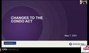 Real Estate Part 2 - Condo Topic: New Changes to the Act; Tarion Updates;  Legal Non-conforming Rights in Ontario