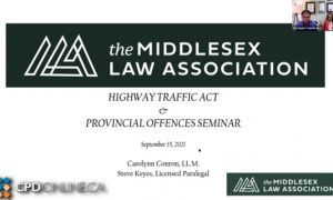 The Provincial Offences Act Seminar 2021